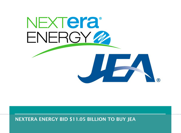 NextEra Energy bid $11.05 billion to buy JEA