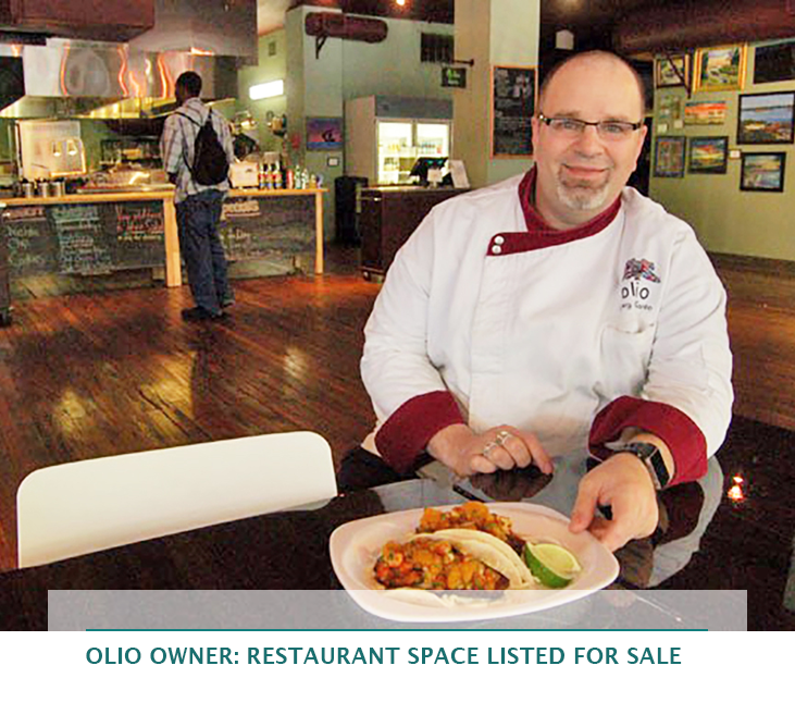 Olio owner: Restaurant space listed for sale