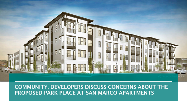 Community, developers discuss concerns about the proposed Park Place at San Marco apartments