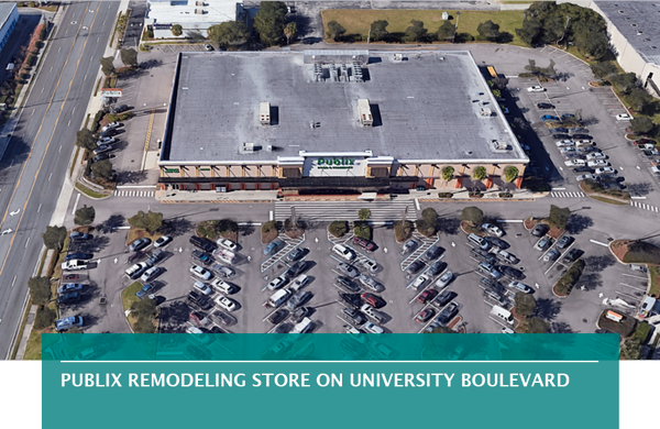 Publix remodeling store on University Boulevard