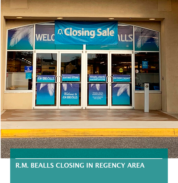 R.M. Bealls closing in Regency area