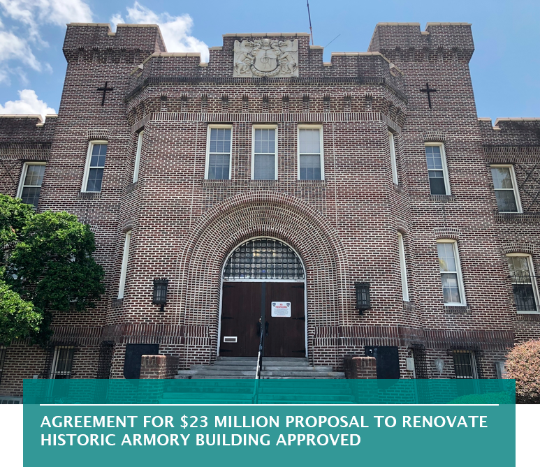 Agreement for $23 million proposal to renovate historic Armory Building approved