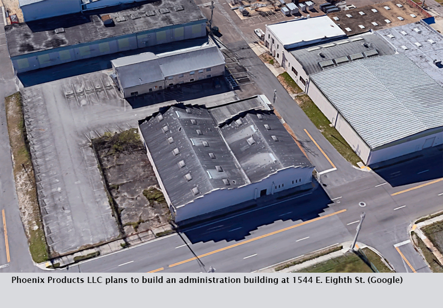 Phoenix Products LLC plans to build an administration building at 1544 E. Eighth St. (Google)
