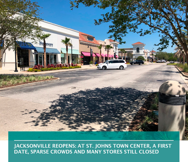 Jacksonville reopens: At St. Johns Town Center, a first date, sparse crowds and many stores still closed
