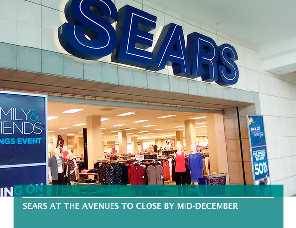 Sears at The Avenues to close by mid-December