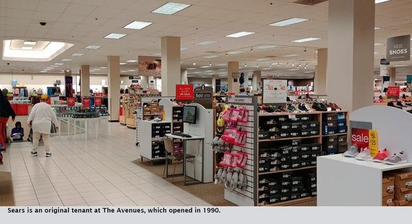 Sears is an original tenant at The Avenues, which opened in 1990.