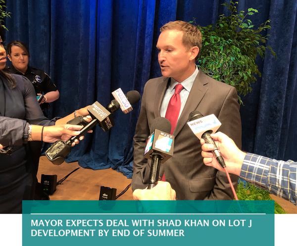 Mayor expects deal with Shad Khan on Lot J development by end of summer