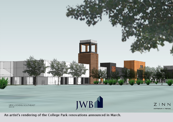 An artist's rendering of the College Park renovations announced in March.