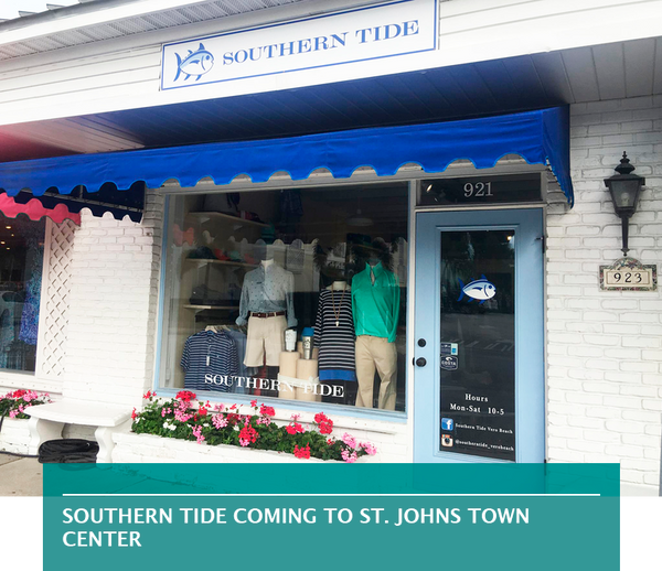 Southern Tide coming to St. Johns Town Center
