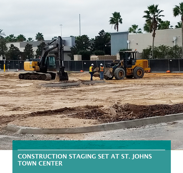 Construction staging set at St. Johns Town Center