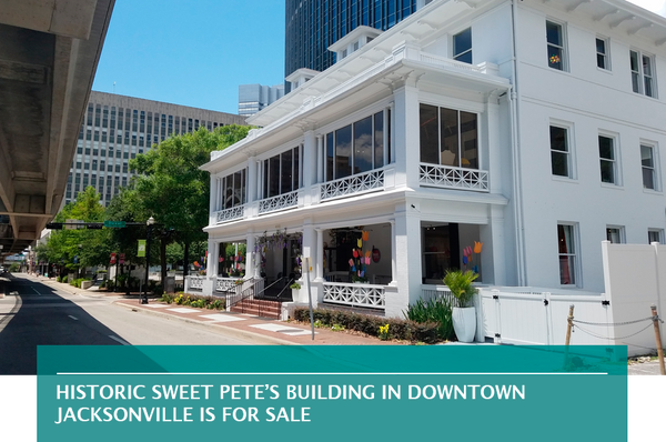 Historic Sweet Pete's building in Downtown Jacksonville is for sale