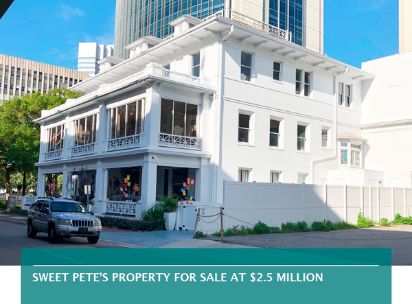 Sweet Pete's property for sale at $2.5 million