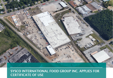 SYSCO INTERNATIONAL FOOD GROUP INC. APPLIES FOR CERTIFICATE OF USE