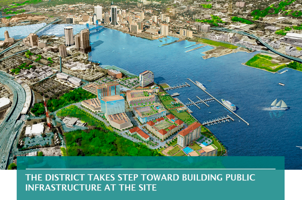 The District takes step toward building public infrastructure at the site