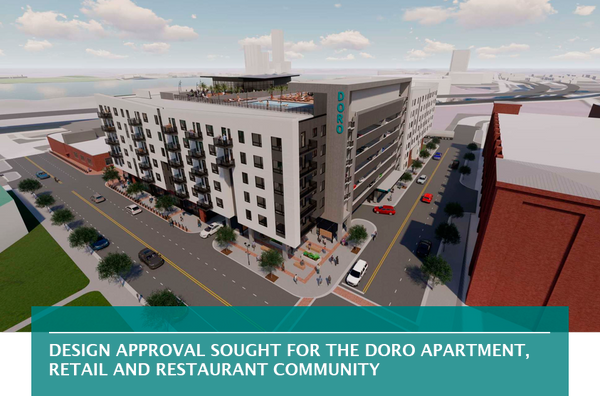 Design approval sought for The Doro apartment, retail and restaurant community