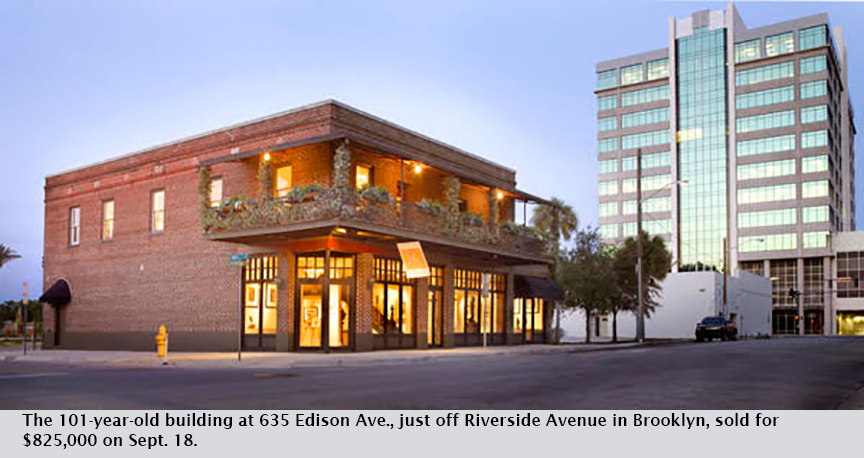 The 101-year-old building at 635 Edison Ave., just off Riverside Avenue in Brooklyn, sold for $825,000 on Sept. 18.