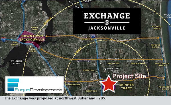 The Exchange was proposed at northwest Butler and I-295.