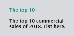 The top 10 commercial sales of 2018. List here.