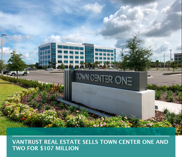 VanTrust Real Estate sells Town Center One and Two for $107 million