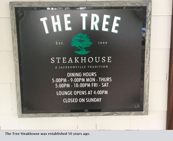 The Tree Steakhouse was established 50 years ago.