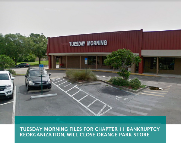 Tuesday Morning files for Chapter 11 bankruptcy reorganization, will close Orange Park store