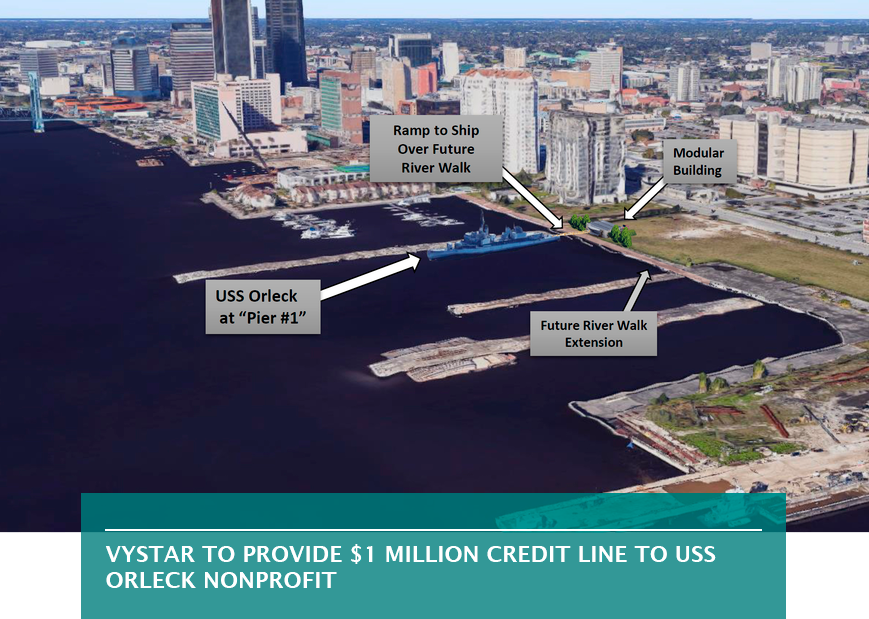 VyStar to provide $1 million credit line to USS Orleck nonprofit
