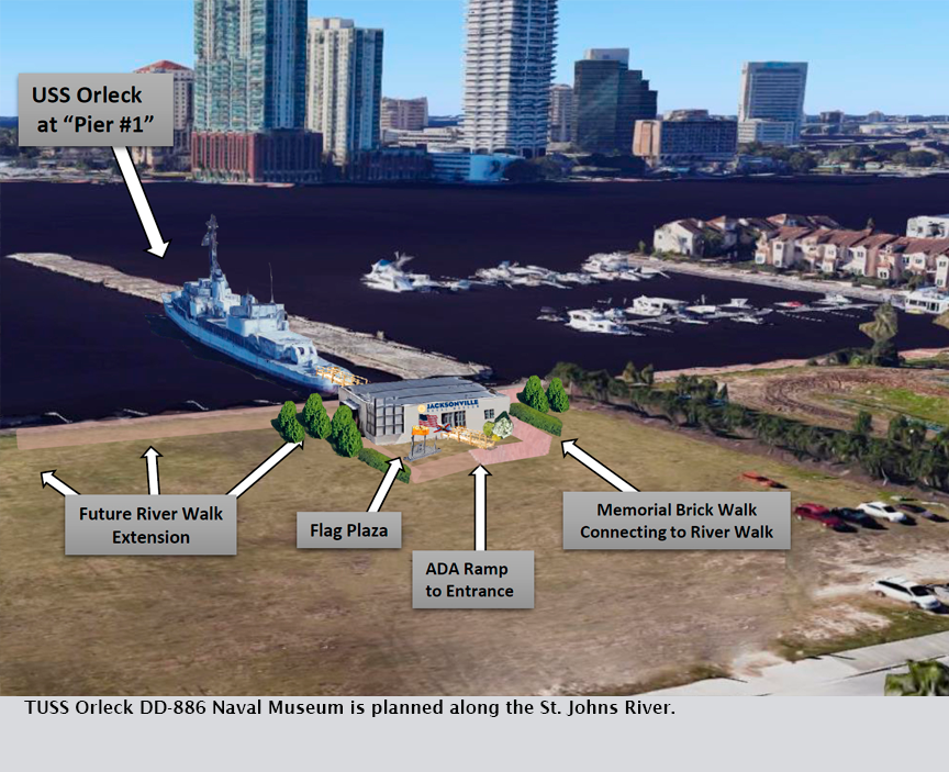 TUSS Orleck DD-886 Naval Museum is planned along the St. Johns River.