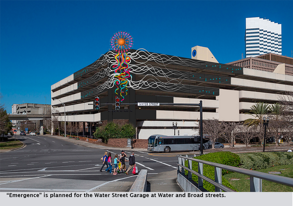"""Emergence"" is planned for the Water Street Garage at Water and Broad streets."