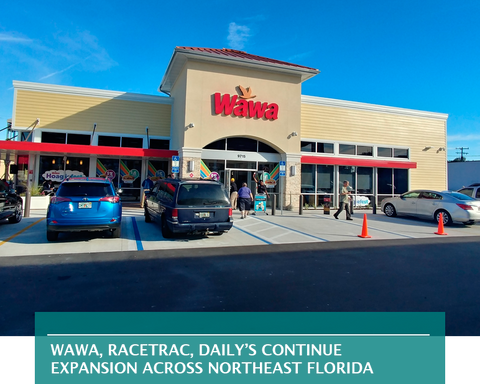 There's movement on three Wawa locations.  • Wawa is preparing to build a 6,202-square-foot gas station and convenience store at 3560 Spring Park Road at Emerson Street.  The city is reviewing a permit application for the store, gas canopy and dumpster enclosure on about 2 acres at a cost of almost $1.1 million.  Cuhaci & Peterson Architects of Orlando is the architect and engineer.  • Brightwork Real Estate filed site construction plans for a Wawa at 13363 Beach Blvd. at Brougham Avenue.  The 6,119-square-foot gas station and convenience store is planned on almost 2.5 acres. Bohler Engineering of Tampa is the civil engineer.  • Wawa Florida LLC applied for a Certificate of Use for a 5,636-square-foot store at 2500 Monument Road in East Arlington. The location is under construction.  In addition to Wawa, RaceTrac Petroleum Inc. is adding sites.  Atlanta-based RaceTrac is near construction of another gas station and convenience store in Arlington.   The city is reviewing permit applications for Venture Construction Co. of Norcross, Georgia, to build a 5,500-square-foot store along with a gas canopy and dumpster enclosure on about 3 acres at 9383 Merrill Road at a cost of $1.4 million.  RaceTrac paid $1.25 million for the property, which is at the split of Merrill and Fort Caroline roads and Business Drive in Buck Business Park.   RaceTrac already operates a mile west at 8240 Merrill Road. That store will remain.  Daily's also is continuing expansion. The St. Johns River Water Management District is reviewing plans for First Coast Energy LLP. to develop a Daily's gas station and convenience store at Kernan West, at northwest Butler and Kernan boulevards.