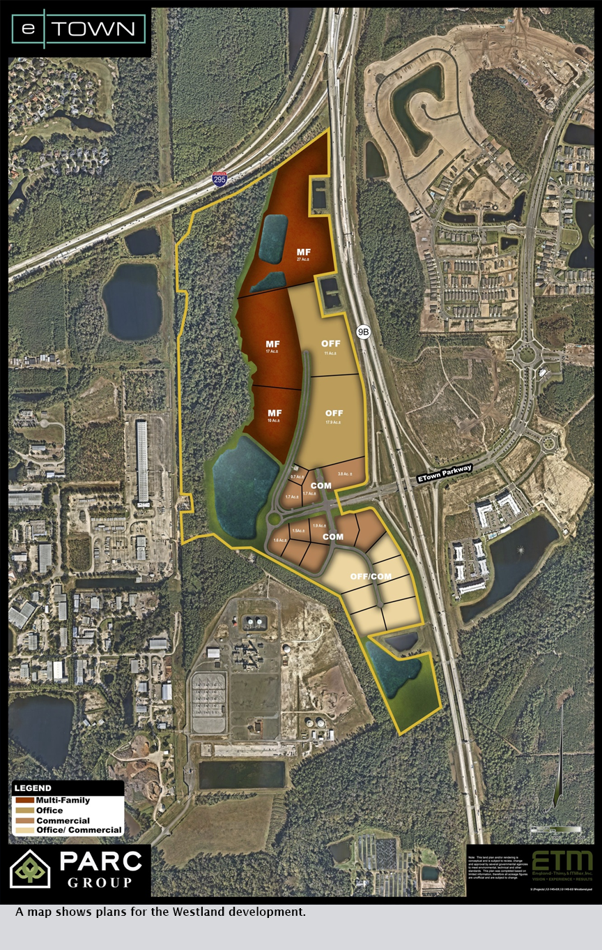 A map shows plans for the Westland development.