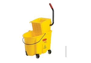 rubbermaid-wavebrake-bucket-with-side-press-wringer-35-quarts-yellow