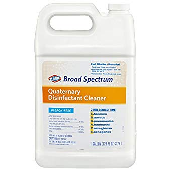 Clorox® Broad Spectrum Quaternary Disinfectant Cleaner, Refill, 128 oz., 4/Carton