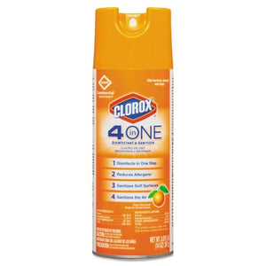 4-In-One Disinfectant & Sanitizer, Citrus, 14oz Aerosol, 12 Ct