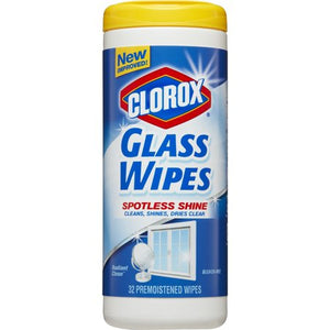 Clorox Glass Wipes, Radiant Clean, 32 Wipes Canister (31094)