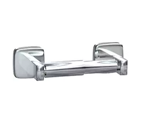 "ASI® Single Roll Toilet Paper Holder, Surface Mounted, Stainless Steel, Satin Finish, 2""H x 3 7/8""W x 7 3/4""L"