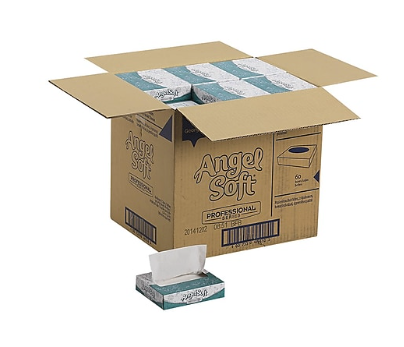 Angel Soft Professional Series Standard Facial Tissue, 2-Ply, 50 Sheets/Box, 60/Carton *** Backordered April 1st***