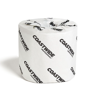 Coastwide Professional™ 2-Ply Standard Toilet Paper, White, 500 Sheets/Roll, 96 Rolls/Carton