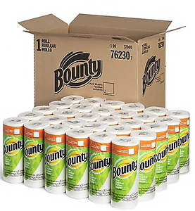 Bounty® Full Sheet Paper Towels, 2-Ply, White, 36 Sheets/Roll, 30 Regular Rolls/Carton