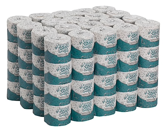 Angel Soft Professional Series® Premium 2-Ply Embossed Toilet Paper by GP PRO, 450 Sheets/Roll, 80 Rolls/Carton ***Backordered until: Friday, Apr 3rd ***