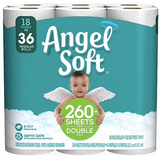 Angel Soft Toilet Paper, 2-Ply, White, 264 Sheets/Roll, 18 Double Rolls/Pack ***Backordered until April 13th***