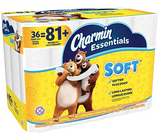 Charmin Essentials Soft™ Toilet Paper, 2-Ply, 200 Sheets/Roll, 36 Giant Rolls/Pack