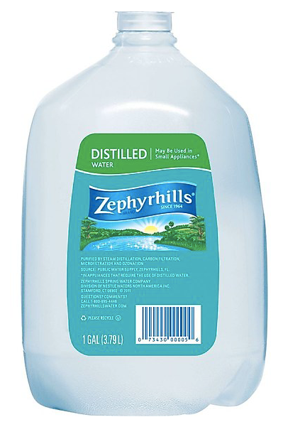 Zephyrhills Brand Distilled Water, 1-Gallon Plastic Jugs, 6/Pack