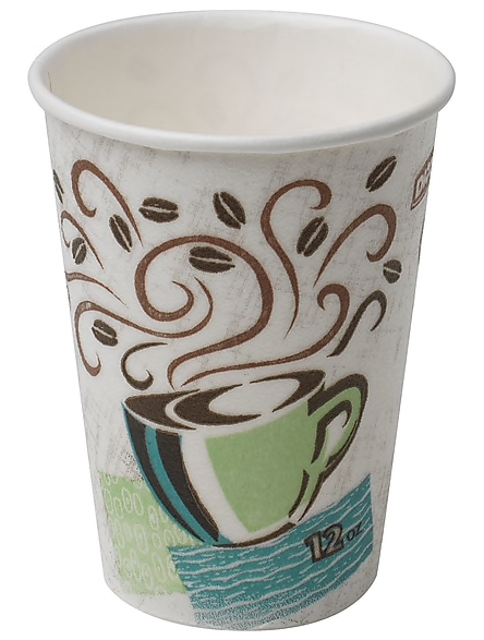Dixie® PerfecTouch® Insulated Hot Cup by GP PRO, 12 oz., Coffee Haze, 500/Carton