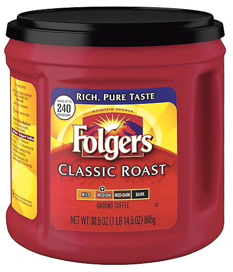 Folgers® Classic Roast® Coffee, 30.5 oz. Canister