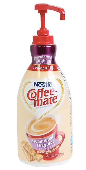 Nestle® Coffee-mate® Coffee Creamer, Sweetened Original, 1.5L Liquid Pump Bottle, 1 Each