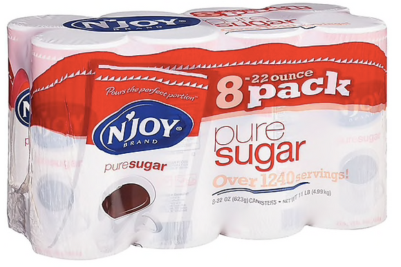 N' Joy Pure Sugar 22 Oz., 8/Ct