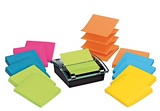 "Post-it® Pop-up Dispenser for 3"" x 3"" Notes, Black, 12 Pads/Pack (DS330-SSVA)"