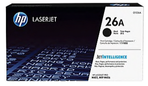 HP 26A Black Original LaserJet Pro Toner Cartridge, CF226A