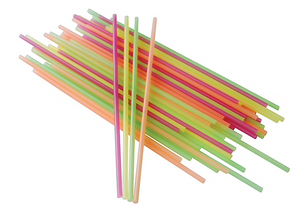 Berkley Square® Assorted Neon Stirrers / Sipper Straws, 1,000/Pack