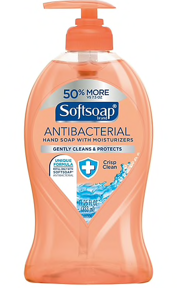 Softsoap® Antibacterial Hand Soap, Crisp Clean, 11.25 oz. Pump Bottle
